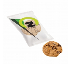 Chocolate chip cookie in flowpack bedrukken