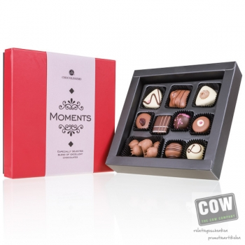 Afbeelding van relatiegeschenk:Moments White by Chocolissimo Mini